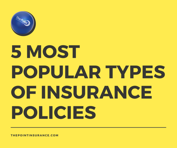 5 most popular types of insurance